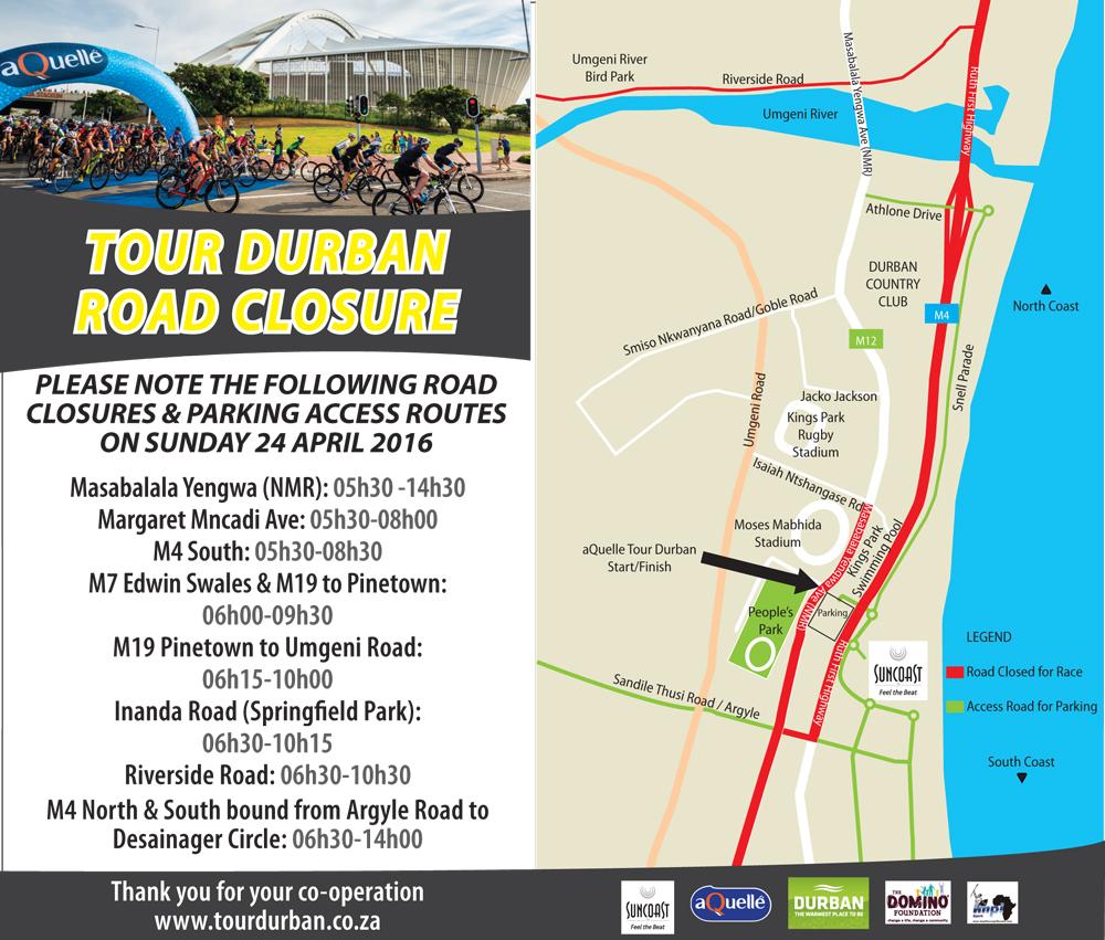TOUR DURBAN : ROAD CLOSURE