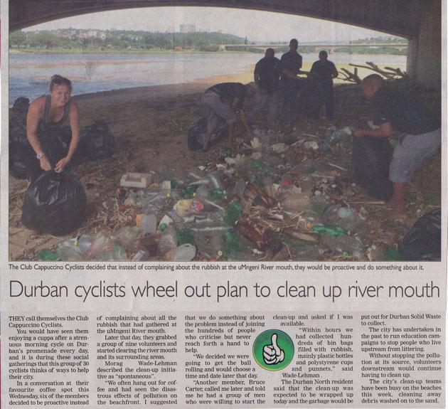 Tour Durban | News - club-cappuccino-clean-up