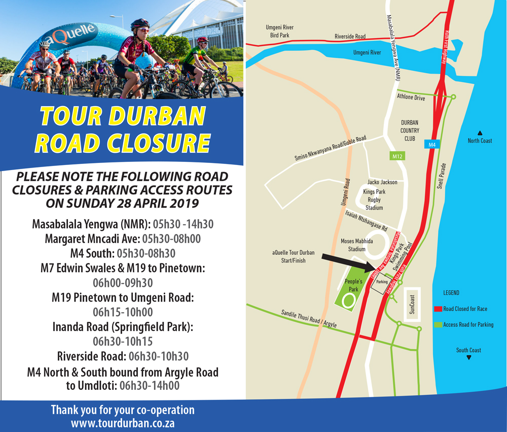 aQuelle-aQuelle-Tour-Durban-Road-Closures-2019